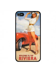 Coque Welcome to the Riviera Vintage Pin Up pour iPhone 4 et 4S - Nico