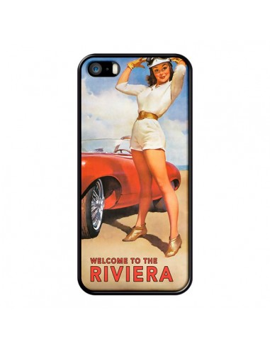Coque Welcome to the Riviera Vintage Pin Up pour iPhone 5/5S et SE - Nico