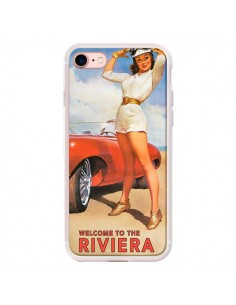 Coque iPhone 7/8 et SE 2020 Welcome to the Riviera Vintage Pin Up - Nico