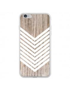 Coque Tribal Aztèque Bois Wood Flèche Blanc pour iPhone 6 Plus et 6S Plus - Laetitia
