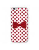 Coque iPhone 6 Plus et 6S Plus Noeud Papillon Rouge Girly Bow Tie - Laetitia