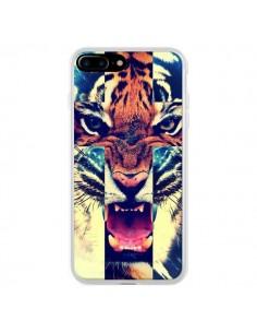 Coque Tigre Swag Croix Roar Tiger pour iPhone 7 Plus et 8 Plus - Laetitia