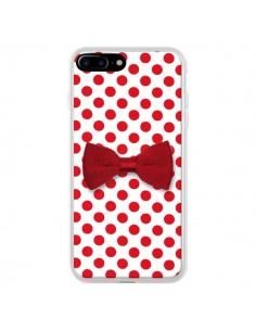 Coque Noeud Papillon Rouge Girly Bow Tie pour iPhone 7 Plus et 8 Plus - Laetitia