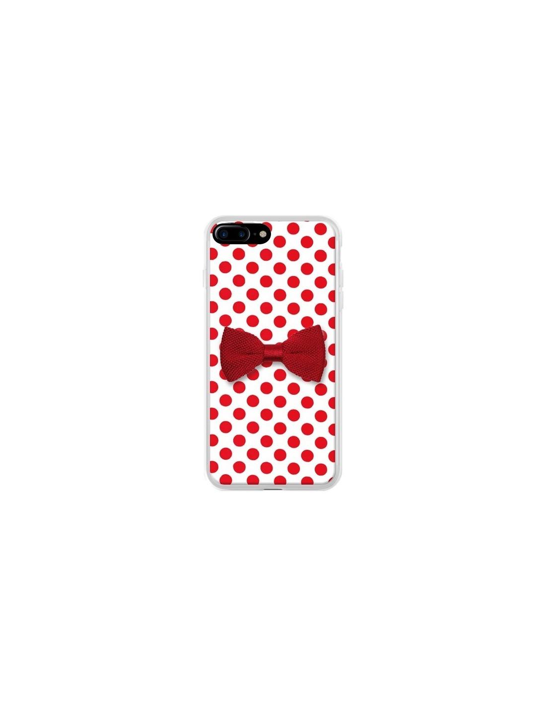 coque noeud papillon rouge girly bow tie pour iphone 7 plus et 8 plus laetitia. Black Bedroom Furniture Sets. Home Design Ideas