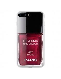 Coque iPhone 7 Plus et 8 Plus Vernis Paris Malice Violet - Laetitia