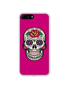 Coque iPhone 7 Plus et 8 Plus Tête de Mort Mexicaine Rose Fushia - Laetitia