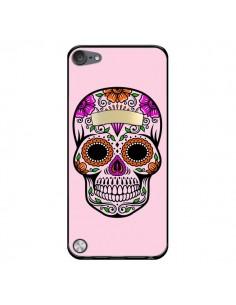 Coque Tête de Mort Mexicaine Rose Multicolore pour iPod Touch 5/6 et 7 - Laetitia