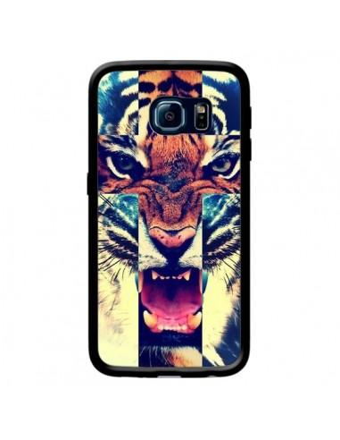 Coque Tigre Swag Croix Roar Tiger pour Samsung Galaxy S6 Edge - Laetitia