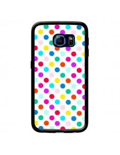 Coque Pois Multicolores pour Samsung Galaxy S6 Edge - Laetitia