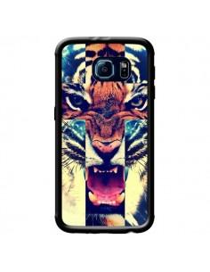 Coque Tigre Swag Croix Roar Tiger pour Samsung Galaxy S6 - Laetitia