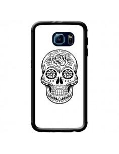 Coque Tête de Mort Mexicaine Noir pour Samsung Galaxy S6 - Laetitia