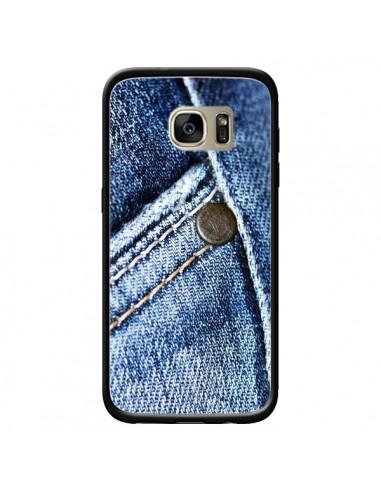 Coque Jean Vintage pour Samsung Galaxy S7 Edge - Laetitia