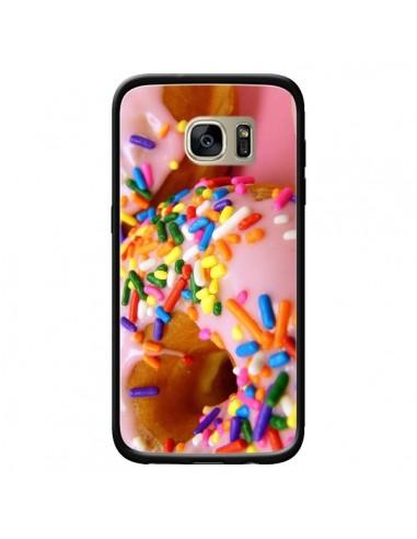 Coque Donuts Rose Candy Bonbon pour Samsung Galaxy S7 Edge - Laetitia