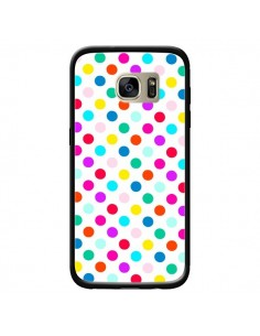 Coque Pois Multicolores pour Samsung Galaxy S7 Edge - Laetitia