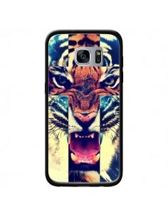 Coque Tigre Swag Croix Roar Tiger pour Samsung Galaxy S7 - Laetitia
