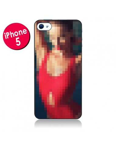 Coque Summer Girl Pixels pour iPhone 5 - Danny Ivan