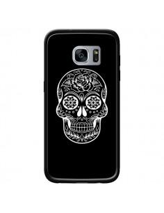 Coque Tête de Mort Mexicaine Blanche pour Samsung Galaxy S7 - Laetitia