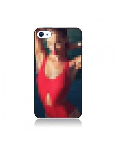 Coque Summer Girl Pixels pour iPhone 4 et 4S - Danny Ivan