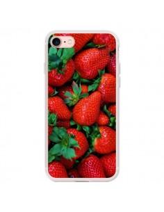 Coque iPhone 7/8 et SE 2020 Fraise Strawberry Fruit - Laetitia