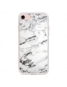 Coque iPhone 7/8 et SE 2020 Marbre Marble Blanc White - Laetitia