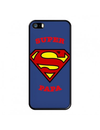 Coque iPhone 5/5S et SE Super Papa Superman - Laetitia