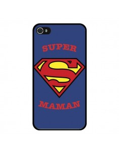 Coque Super Maman Superman pour iPhone 4 et 4S - Laetitia