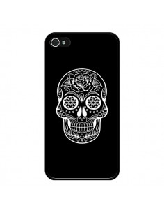 Coque Tête de Mort Mexicaine Blanche pour iPhone 4 et 4S - Laetitia
