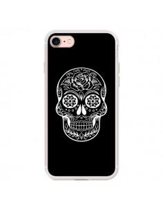 Coque iPhone 7/8 et SE 2020 Tête de Mort Mexicaine Blanche - Laetitia