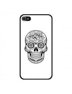 Coque Tête de Mort Mexicaine Noir pour iPhone 4 et 4S - Laetitia