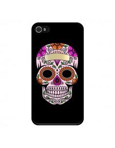 Coque Tête de Mort Mexicaine Multicolore pour iPhone 4 et 4S - Laetitia