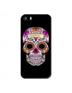 Coque Tête de Mort Mexicaine Multicolore pour iPhone 5/5S et SE - Laetitia