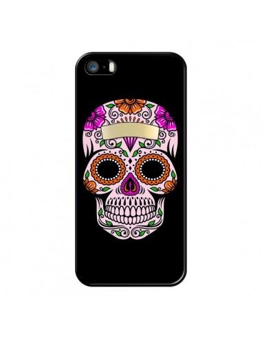 Coque iPhone 5/5S et SE Tête de Mort Mexicaine Multicolore - Laetitia