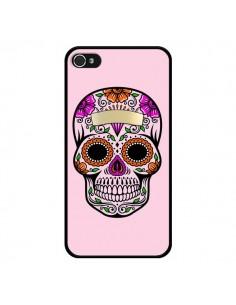 Coque Tête de Mort Mexicaine Rose Multicolore pour iPhone 4 et 4S - Laetitia