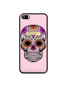 Coque Tête de Mort Mexicaine Rose Multicolore pour iPhone 5/5S et SE - Laetitia