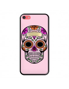 Coque Tête de Mort Mexicaine Rose Multicolore pour iPhone 5C - Laetitia