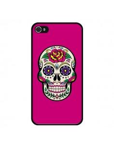 Coque Tête de Mort Mexicaine Rose Fushia pour iPhone 4 et 4S - Laetitia