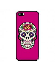 Coque Tête de Mort Mexicaine Rose Fushia pour iPhone 5/5S et SE - Laetitia