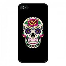 Coque Tête de Mort Mexicaine Multicolore Noir pour iPhone 4 et 4S - Laetitia