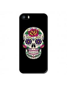 Coque Tête de Mort Mexicaine Multicolore Noir pour iPhone 5/5S et SE - Laetitia