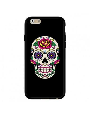 Coque Tête de Mort Mexicaine Multicolore Noir pour iPhone 6 et 6S - Laetitia