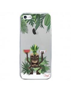 Coque Tiki Thailande Jungle Bois Transparente pour iPhone 5/5S et SE - Chapo