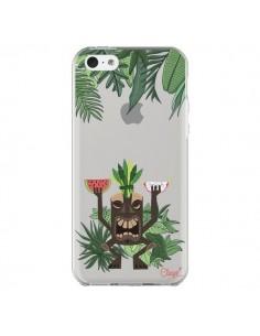 Coque iPhone 5C Tiki Thailande Jungle Bois Transparente - Chapo