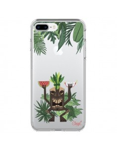 Coque Tiki Thailande Jungle Bois Transparente pour iPhone 7 Plus - Chapo
