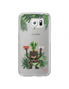 Coque Tiki Thailande Jungle Bois Transparente pour Samsung Galaxy S6 Edge - Chapo