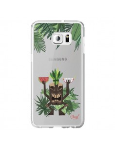 Coque Tiki Thailande Jungle Bois Transparente pour Samsung Galaxy S6 Edge Plus - Chapo