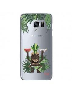 Coque Tiki Thailande Jungle Bois Transparente pour Samsung Galaxy S7 - Chapo