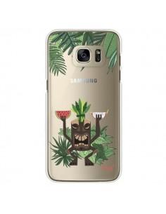 Coque Tiki Thailande Jungle Bois Transparente pour Samsung Galaxy S7 Edge - Chapo