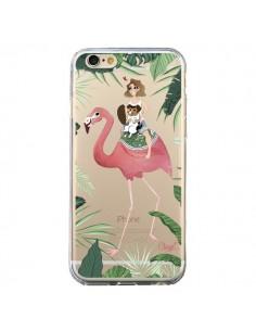 Coque Lolo Love Flamant Rose Chien Transparente pour iPhone 6 et 6S - Chapo
