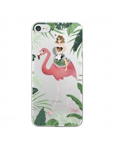 Coque Lolo Love Flamant Rose Chien Transparente pour iPhone 7 - Chapo