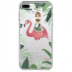 Coque Lolo Love Flamant Rose Chien Transparente pour iPhone 7 Plus - Chapo
